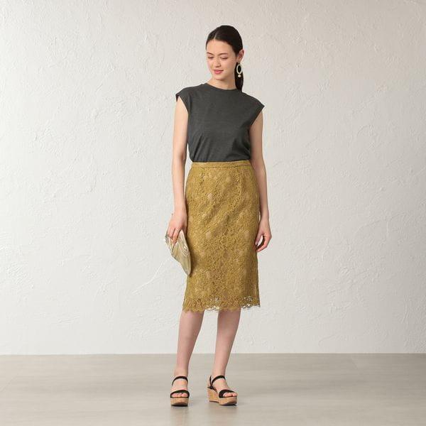 【KAME KYOKO×EPOCA THE SHOP】リバーレースカラースカート