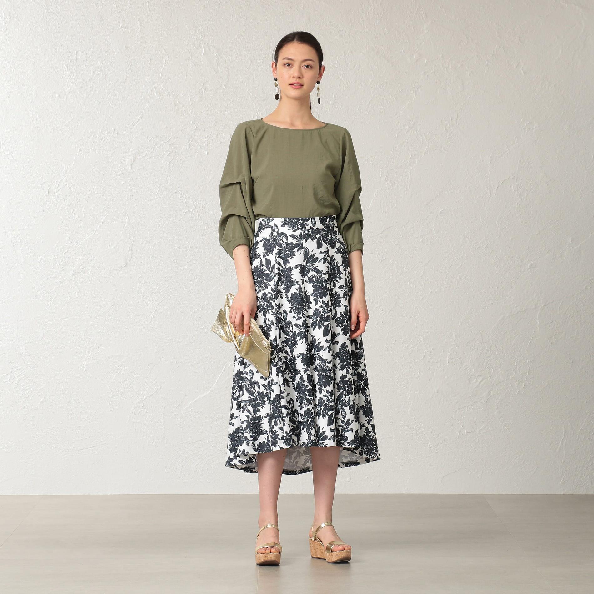 【E_EPOCA THE SHOP】フラワープリントスカート