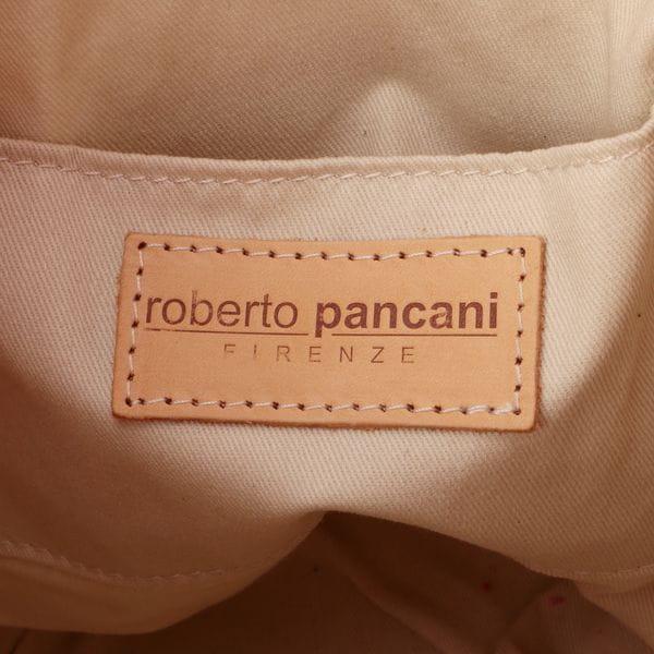【roberto pancani】ボーダーワンハンドルバスケット