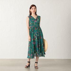 【FLICKA】フラワープリントドレス
