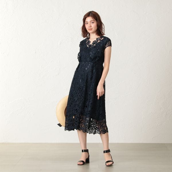 【FLICKA×EPOCA THE SHOP×KAME KYOKO】TULIP LACE カラードレス