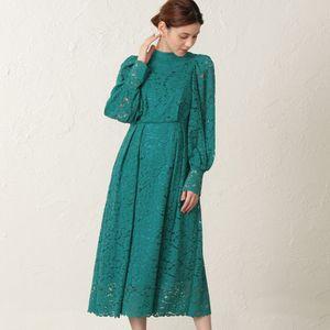 【FLICKA】フラワーレースドレス
