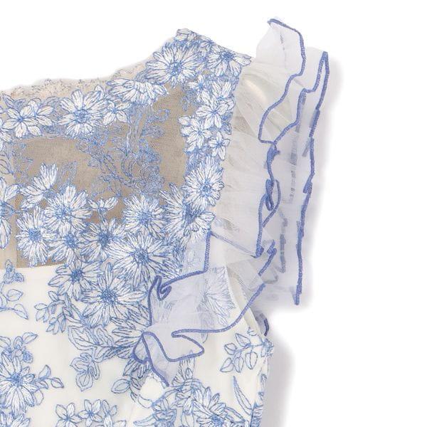 【TADASHI SHOJI】ブルーレースドレス