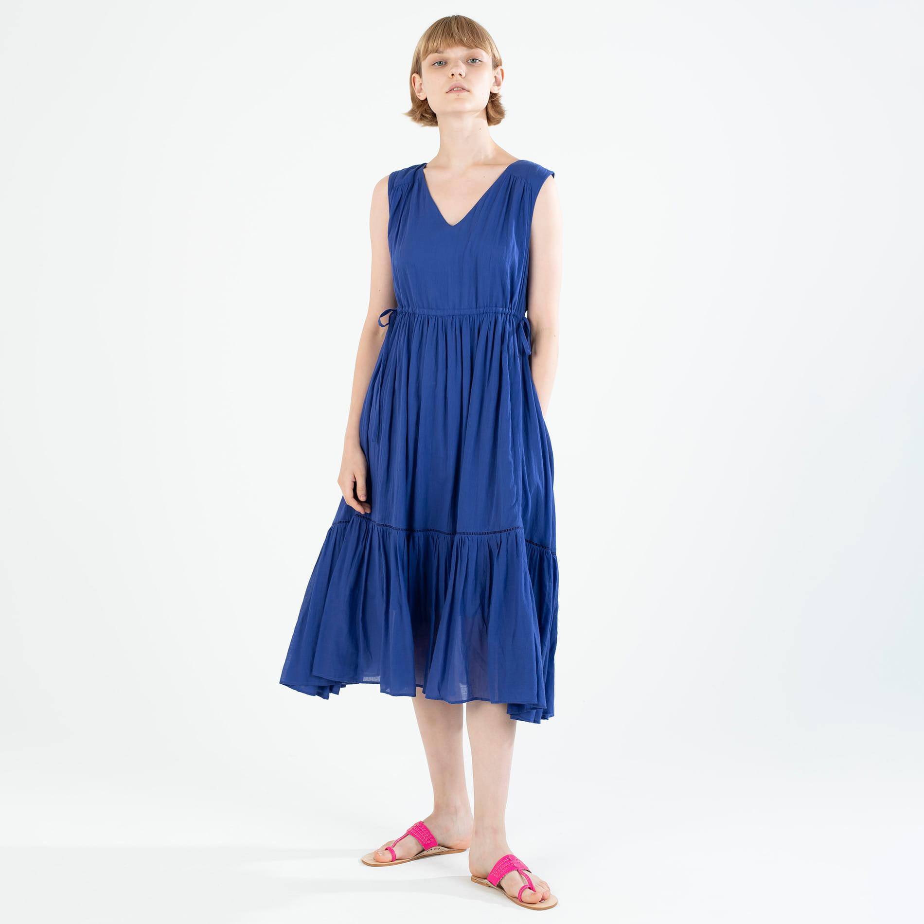 ◆◆【ne quittez pas】コットンボイルティアードドレス