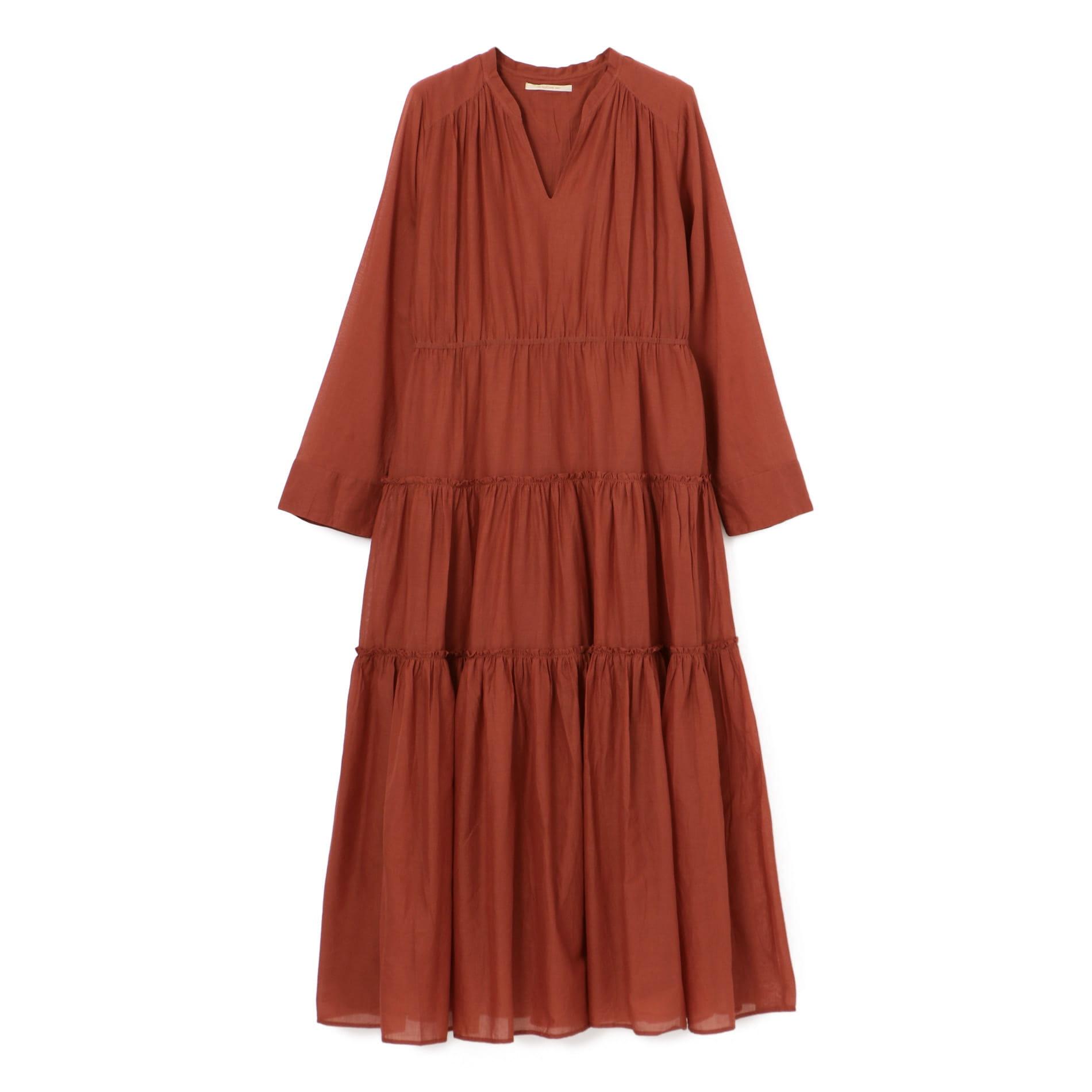 【ne quittez pas】コットンギャザーロングドレス
