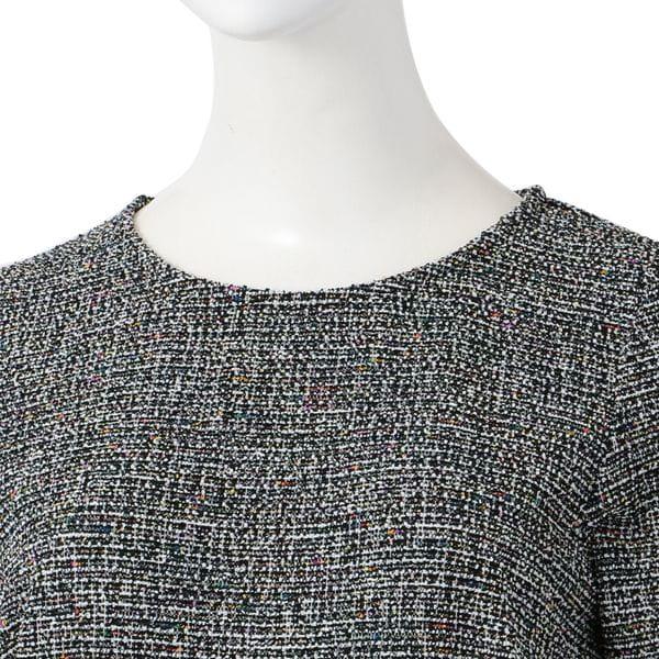 【leota】フリルヘムマルチカラージャカードドレス