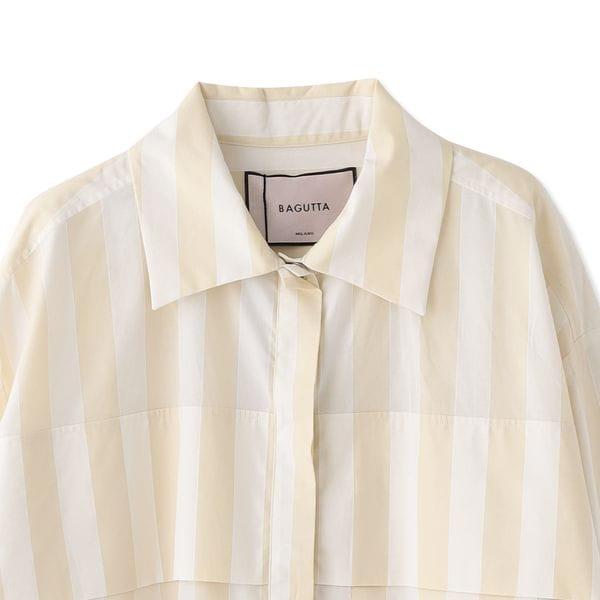 【BAGUTTA】ストライプロングシャツ