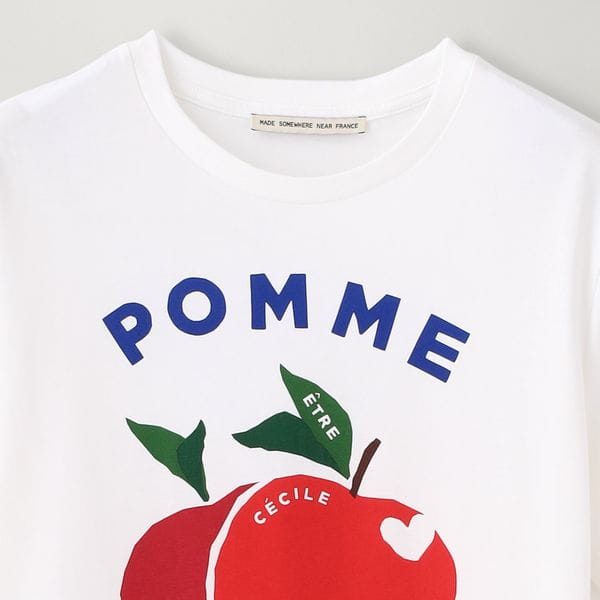 【etre cecile】APPLEモチーフカットソー