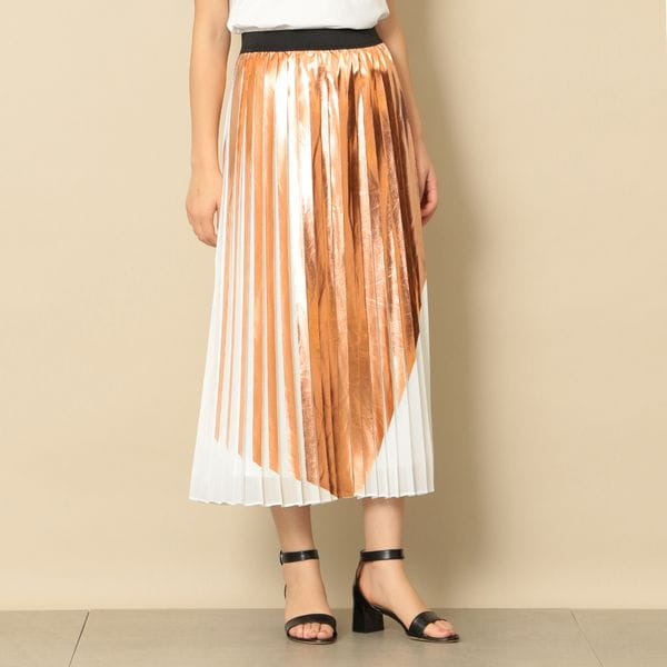 【near.nippon】箔プリントプリーツスカート