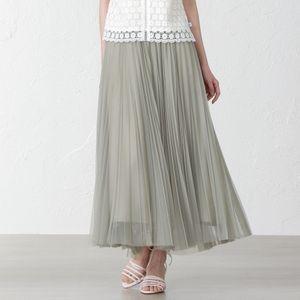 【REKISAMI】チュールプリーツスカート