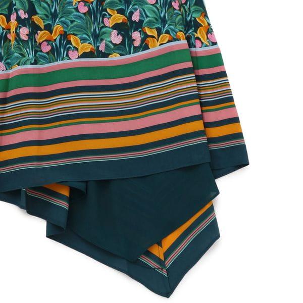 【Diane von Furstenberg】ガーデンプリントアシンメトリースカート