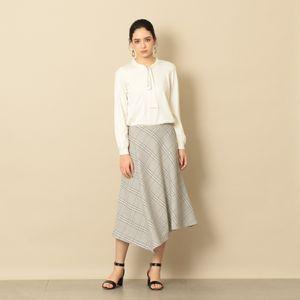 【ORIVAR SAT】ダブルクロスチェックフレアースカート