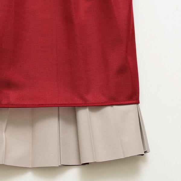 【ORIVAR SAT】フェイクレザープリーツスカート