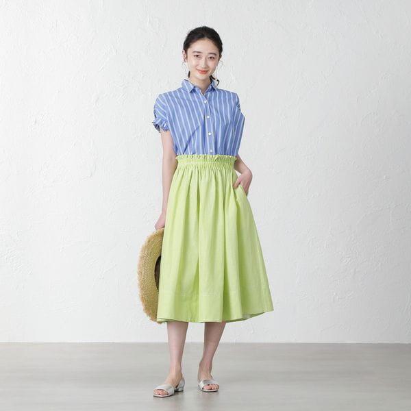 【MIHOKO SAITO】カラーギャザースカート