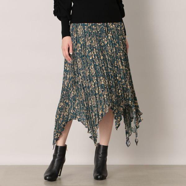 【muller of yoshiokubo】イレギュラーヘムフラワープリントスカート
