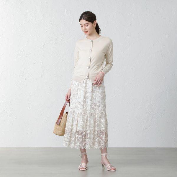 【SACRA】エンブロイダリーレーススカート