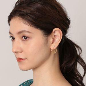 【Kara Yoo】パールコンビサークルピアス