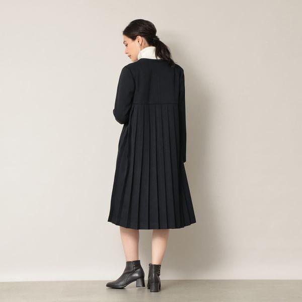 【EPOCA THE SHOP】バックプリーツコート