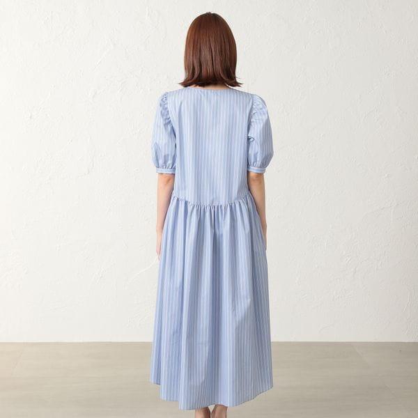 ◆◆【KAME KYOKO×EPOCA THE SHOP】タイプライターストライプドレス