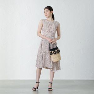 レオパードドットドレス