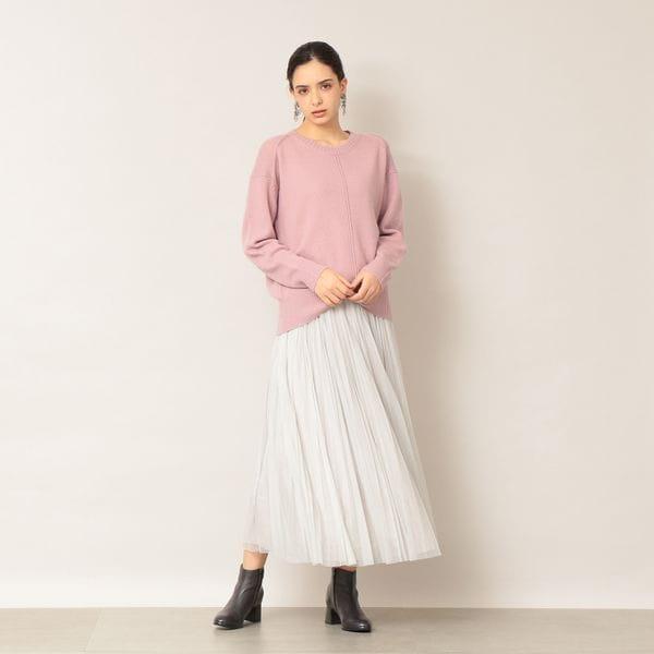 【EPOCA THE SHOP】カシミヤ混クルーネックニット