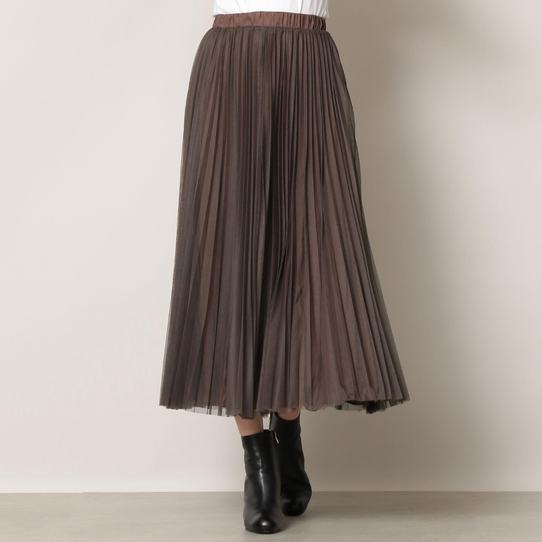 【EPOCA THE SHOP】<2WAY>チュールレイヤードスカート