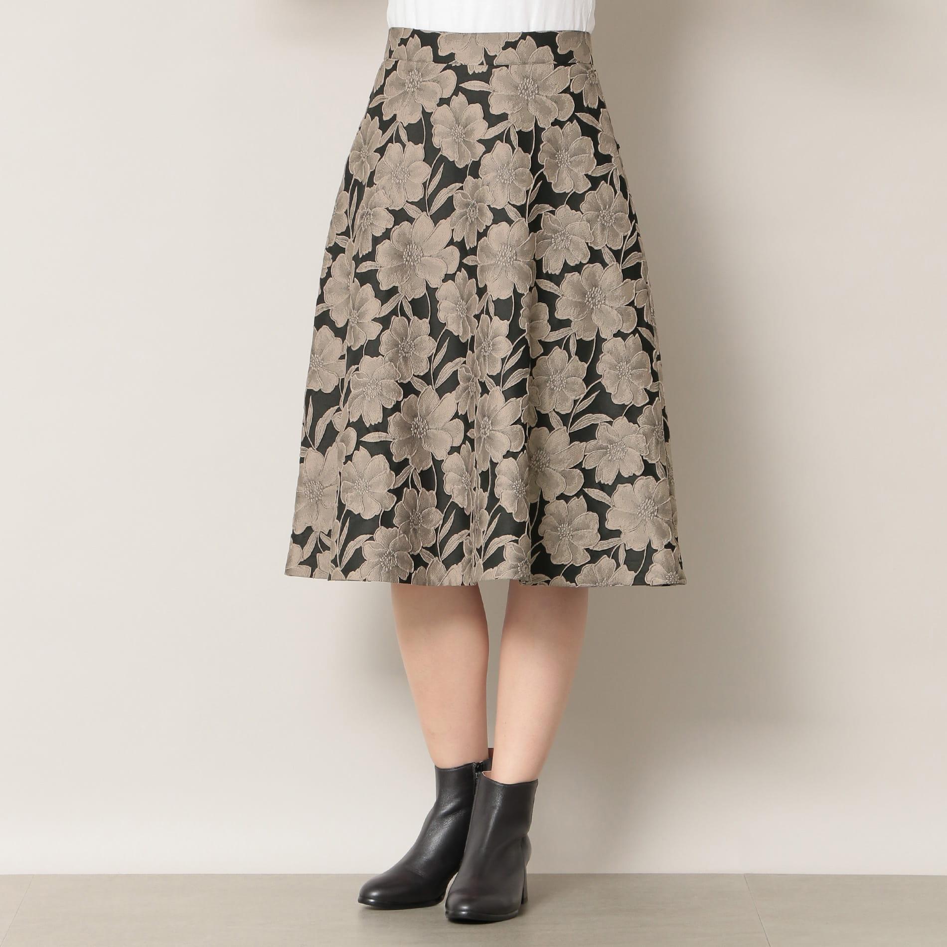 【EPOCA THE SHOP】フラワージャガードスカート