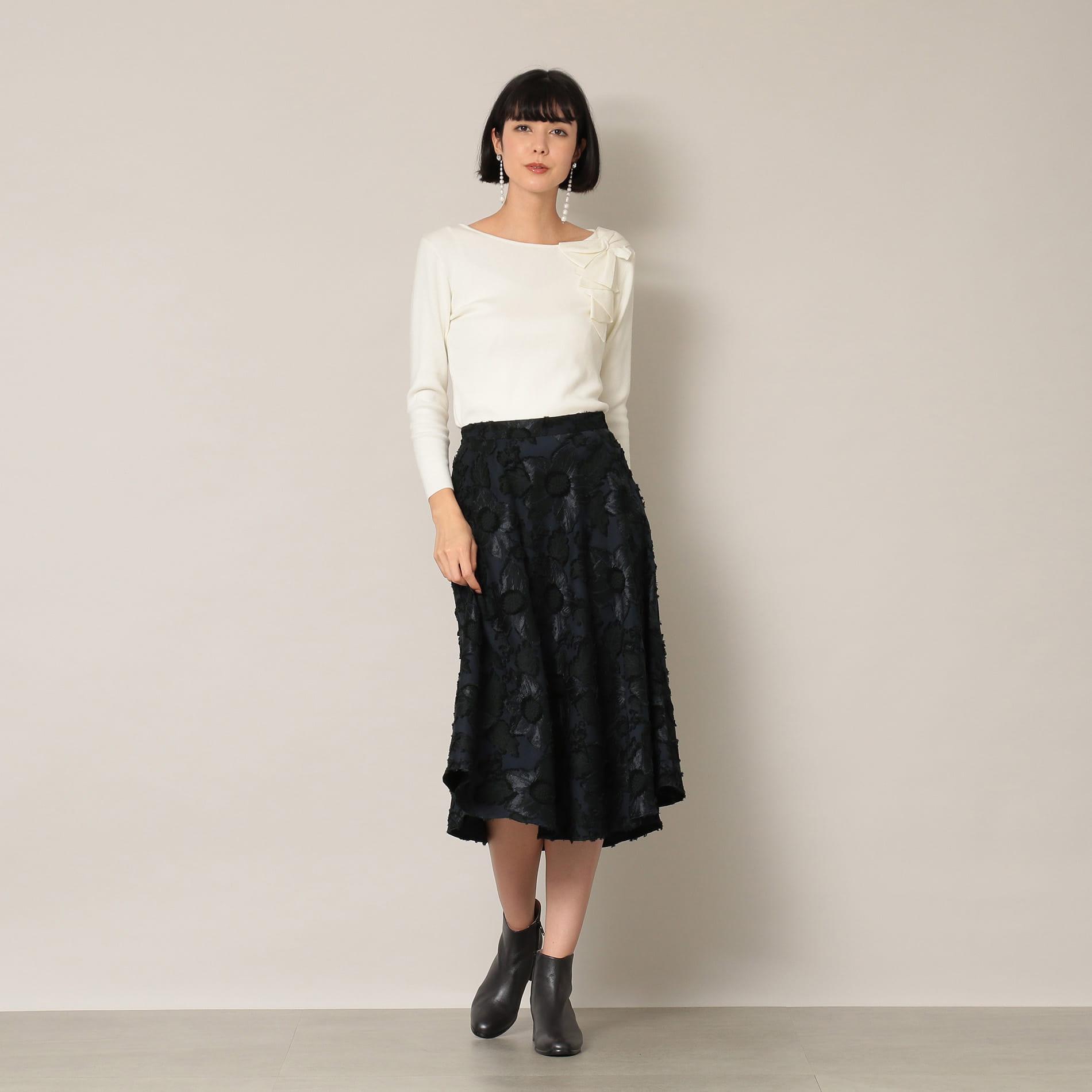 【EPOCA THE SHOP】クリスマスローズジャカードスカート