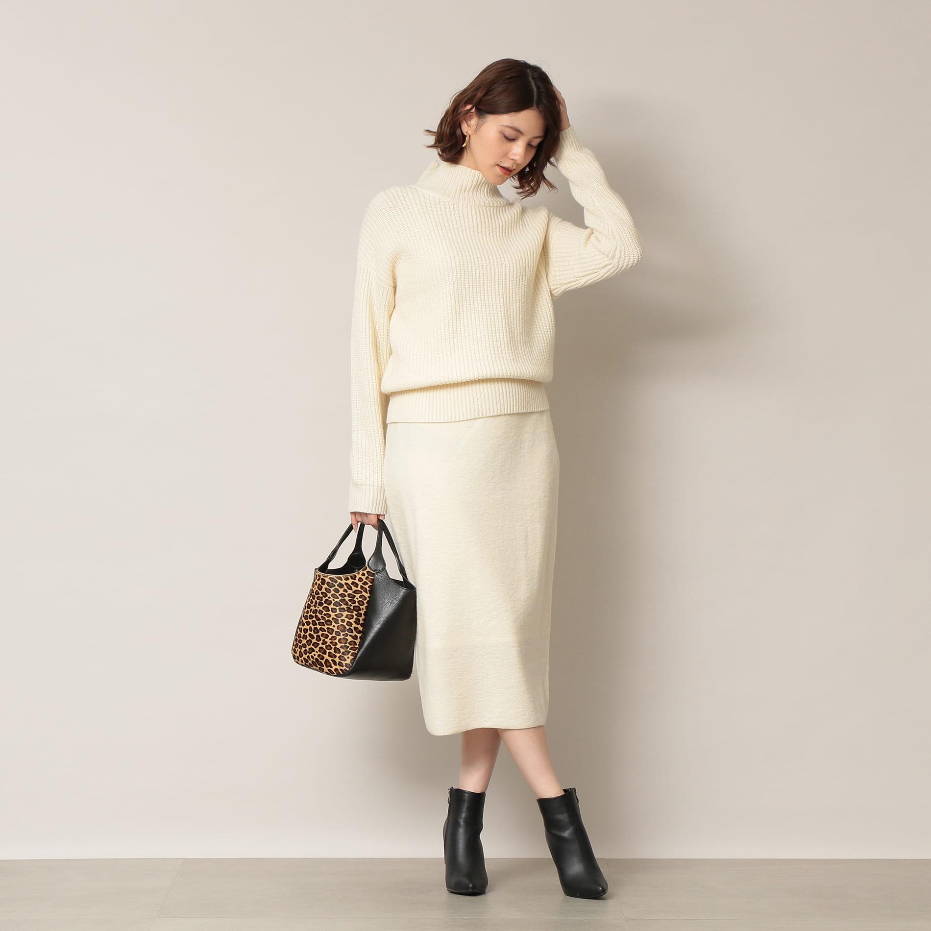 【KAME KYOKO×EPOCA THE SHOP】<セットアップ>ニットアップスカート
