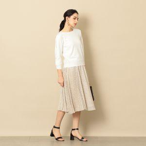 【EPOCA THE SHOP】ドットプリーツスカート
