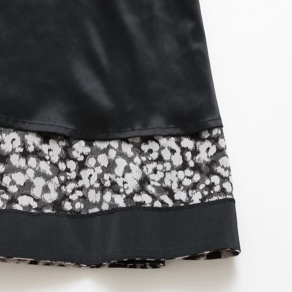 レオパードジャカードスカート