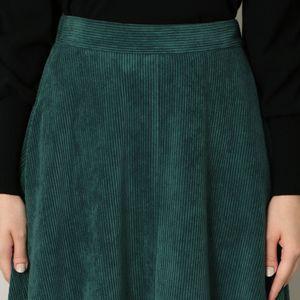 コーデュロイフレアスカート