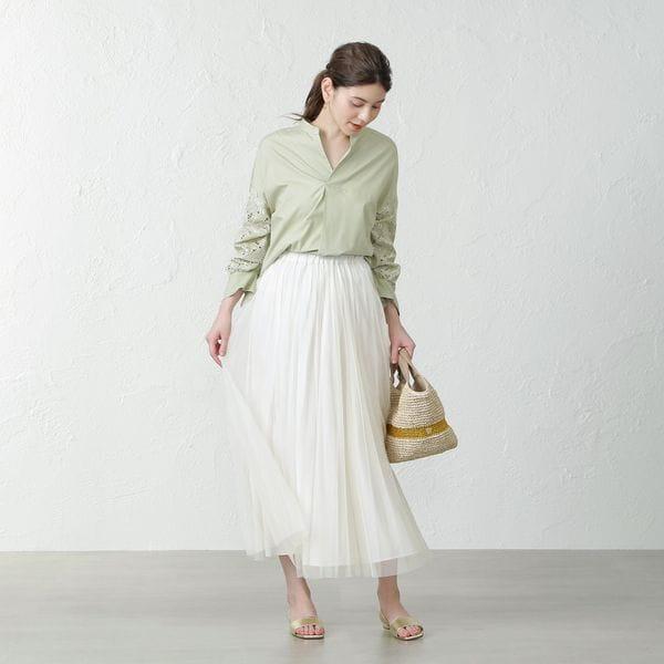 <2WAY>チュールギャザースカート