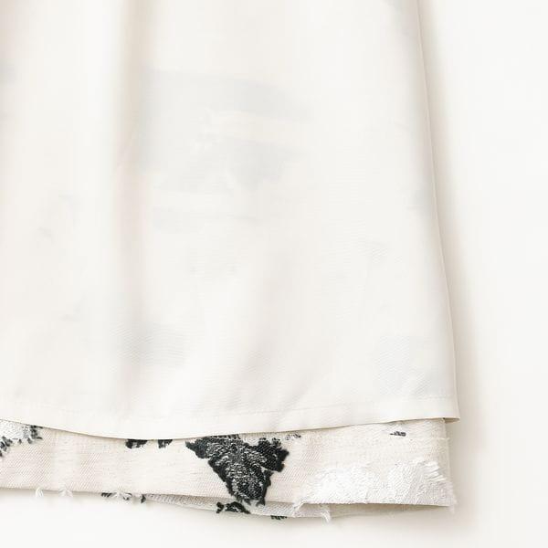 リネンミックスフラワージャカードスカート