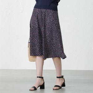 レオパードドットフレアスカート