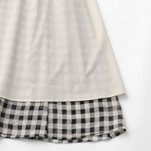 ギンガムサッカーギャザースカート