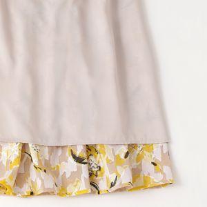 カットジャカードフラワープリントスカート