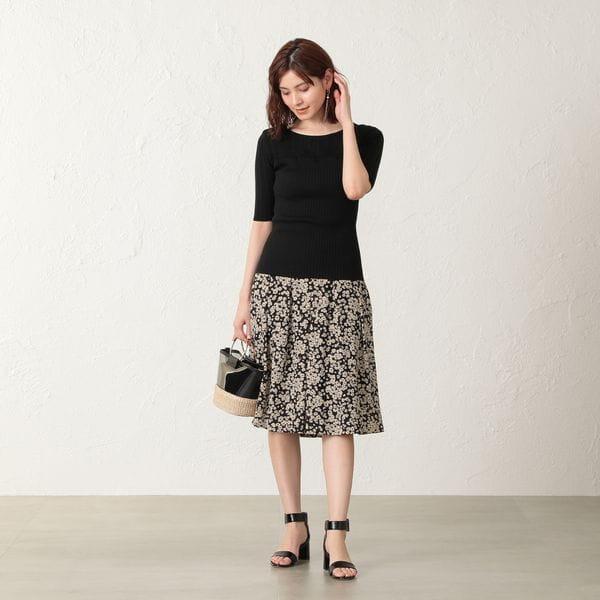 【EPOCA THE SHOP】小花プリントスカート