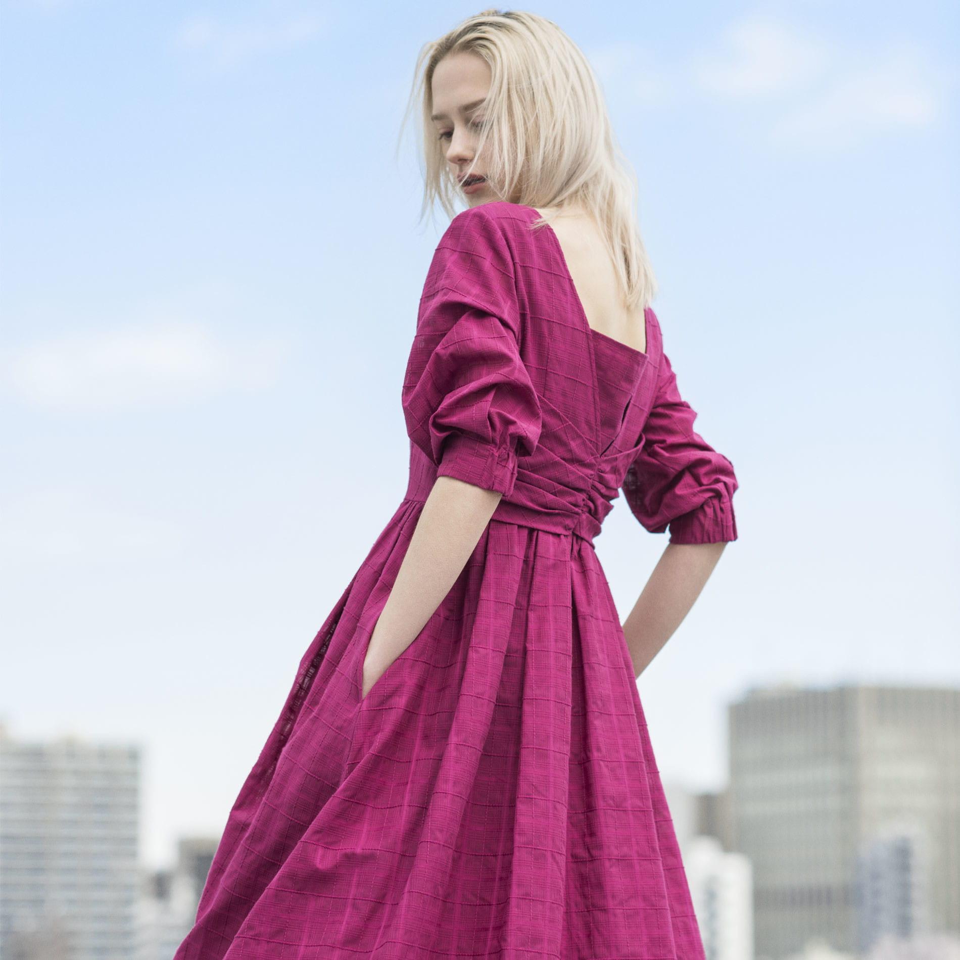 【KAME KYOKO×EPOCA THE SHOP】ブライトカラーシャドーチェックドレス