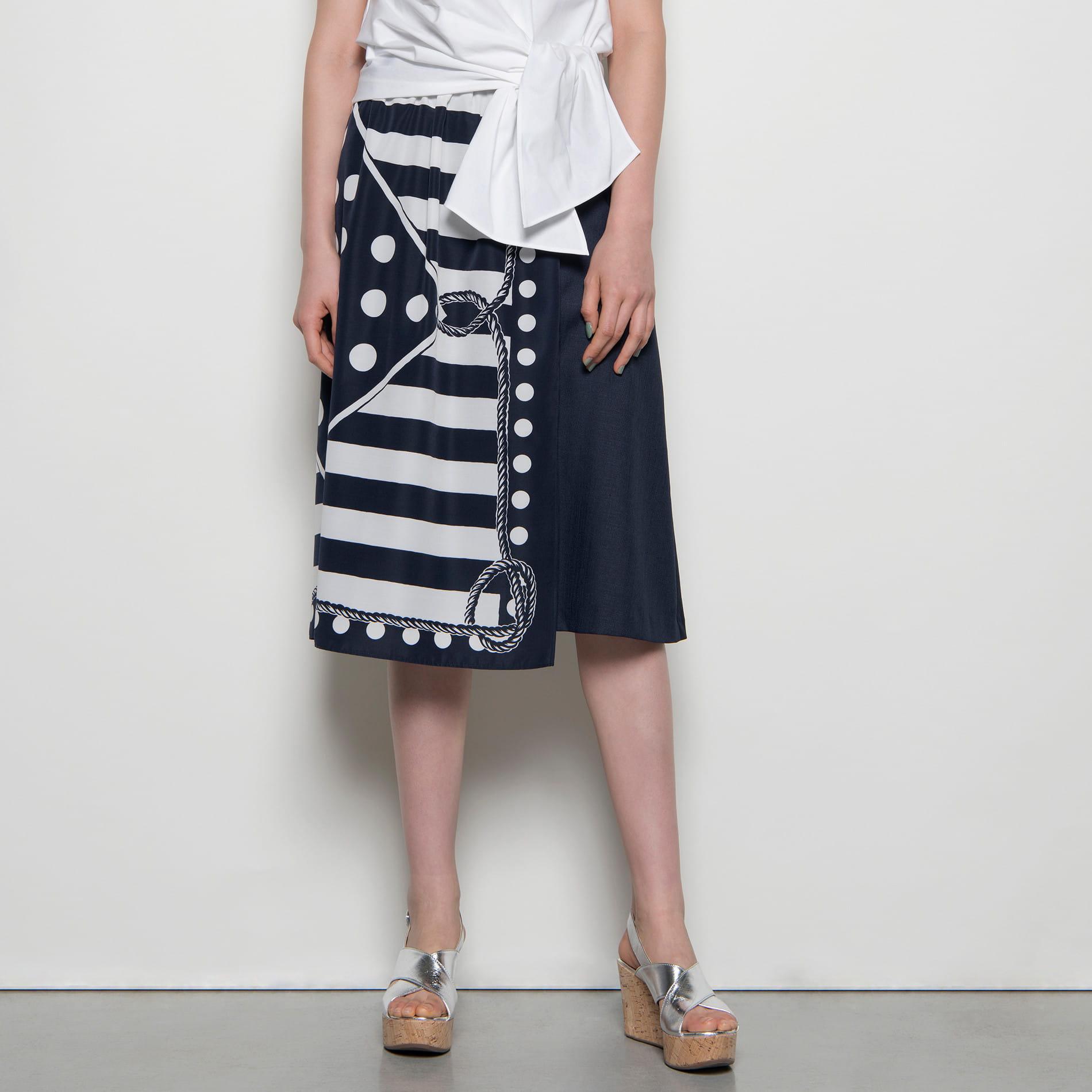 【E_EPOCA THE SHOP】マリンプリントスカート