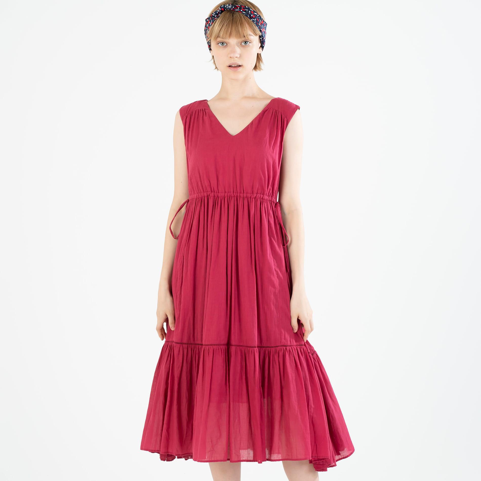 【ne quittez pas】コットンボイルティアードドレス