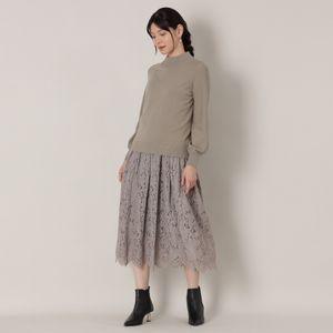 【予約販売】<3WAY>レイヤードレースニットドレス