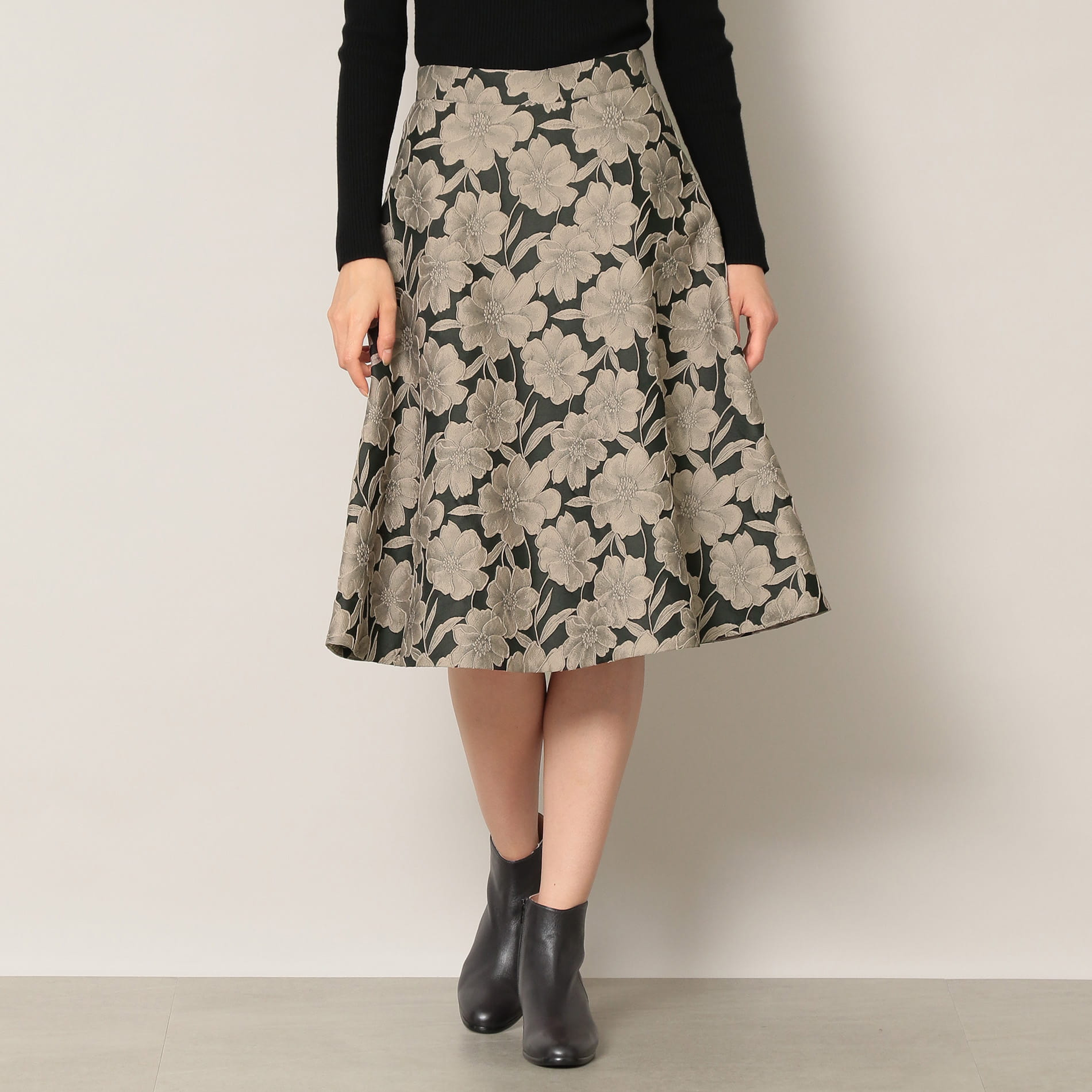 ◆◆【EPOCA THE SHOP】フラワージャガードスカート